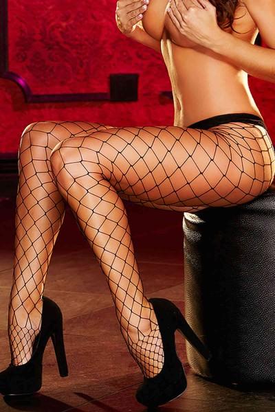 Merry See Seksi Fileli Çorap Siyah